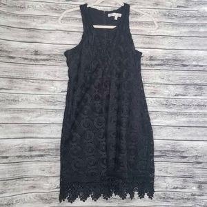 Lovers + Friends Black Escape Lace Mini Dress Boho